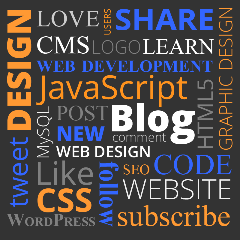 havawebsite blog graphic typography words related to wordpress website design graphic design etc