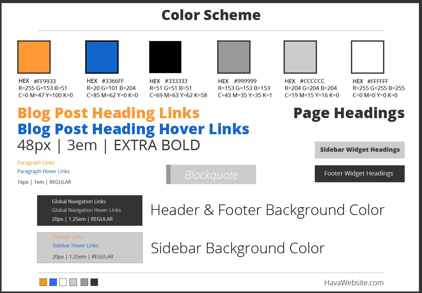 website design service color scheme example