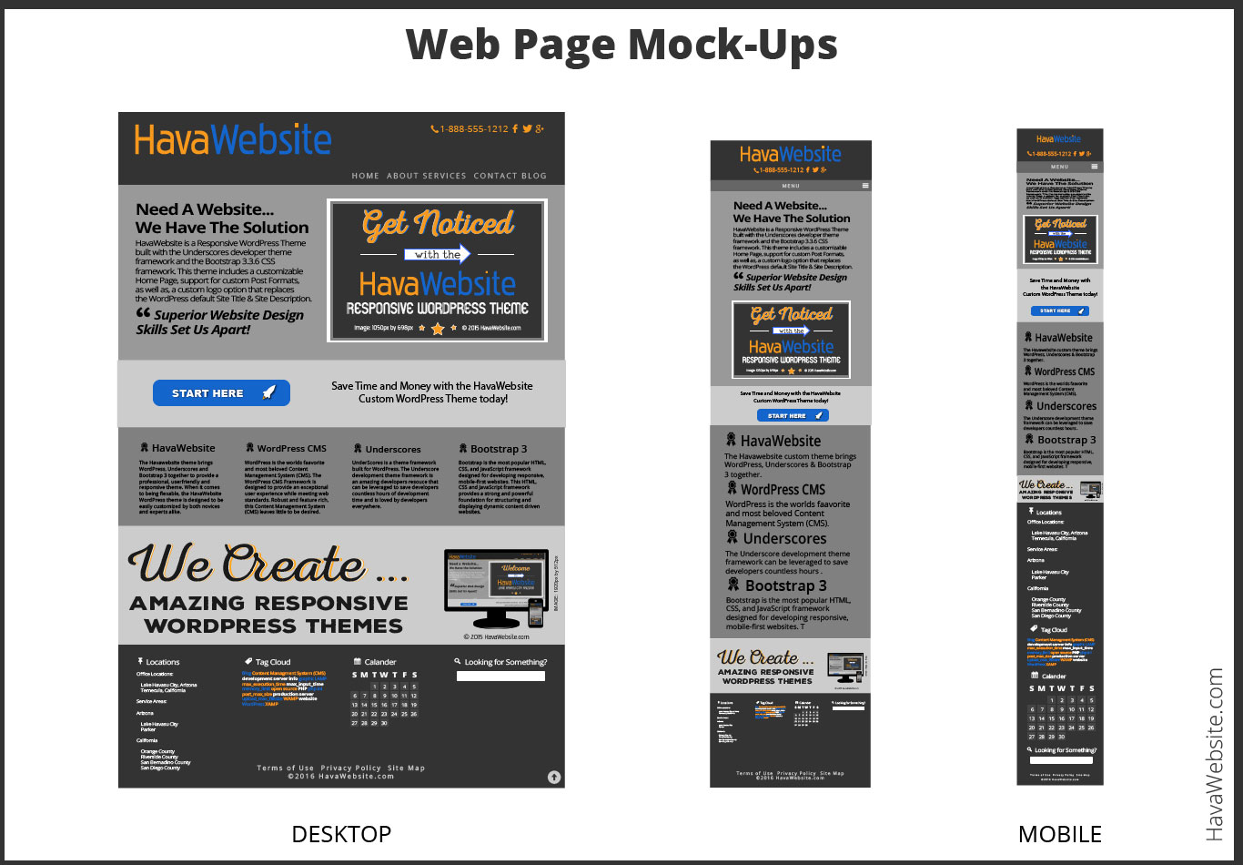 web design  page mock-up document example