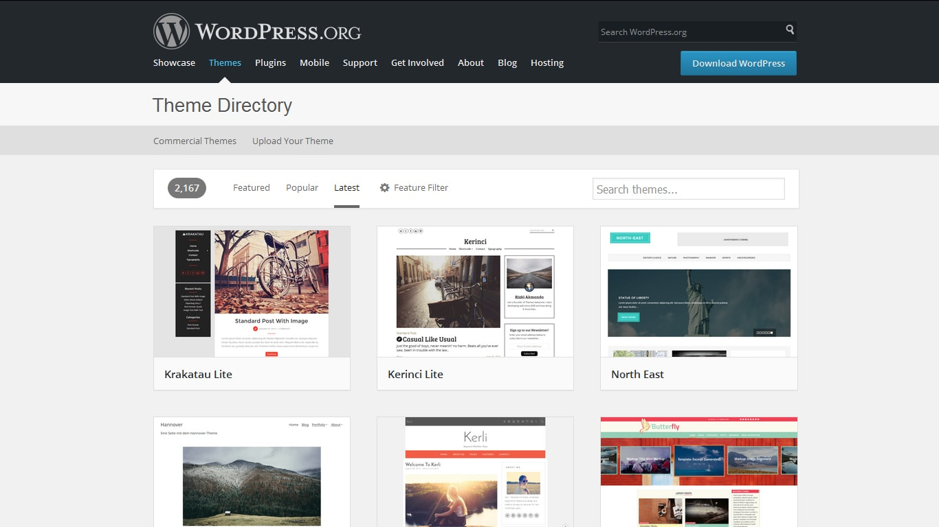 wordpress theme directory latest screenshot