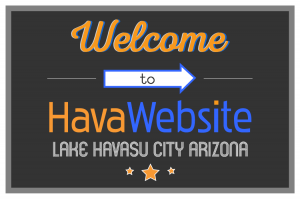 welcome to havawebsite lake havasu city arizona graphic